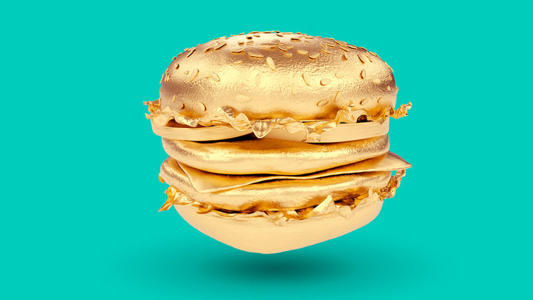 Deliveroo is giving away 5 golden burgers worth 5k - with Five Guys