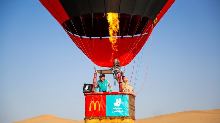 Deliveroo and McDonald's UAE complete the latest extreme delivery