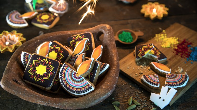 Deliveroo celebrates Diwali with Rangoli Inspired cookies